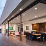 residence sits on a beautiful bluff with panoramic distant ocean views in Carlsbad, California, Foxlin Architects, Living Space