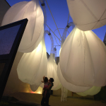 Bubbles is an adaptable spatial pneumatic installation at an urban scale