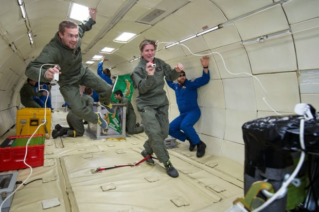 Michael Fox flew in zero gravity doing research for NASA with Five Cal Poly Pomona Architecture students