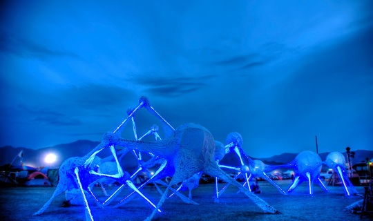 Neural Sky at Coachella, large 3D neural network, Foxlin Architects