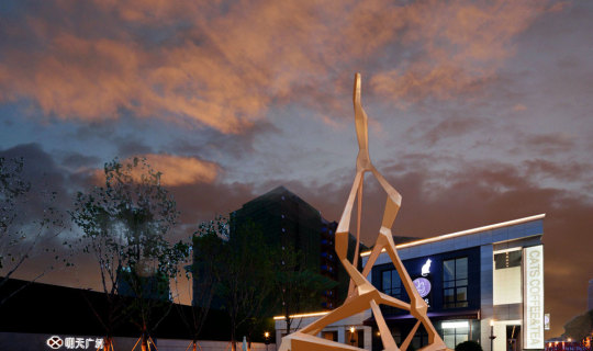 Vanke Tomorrow Sculptures lit with LED Lights, Foxlin Architects